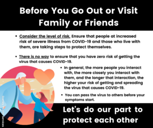 Before you Go out or Visit Family or Friends