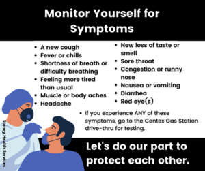 Monitor Yourself for Symptoms