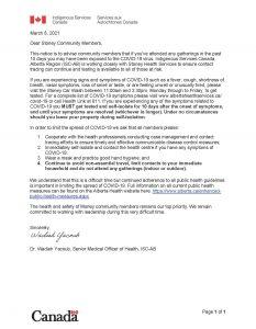 20210305 Stoney Community Letter