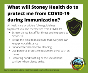 What will Stoney Health do to protect me from COVID-19 during immunization?