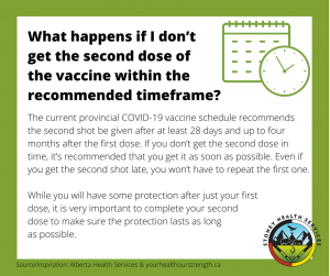 What happens if I don't get the 2nd dose the vaccine within the recommended timeframe?