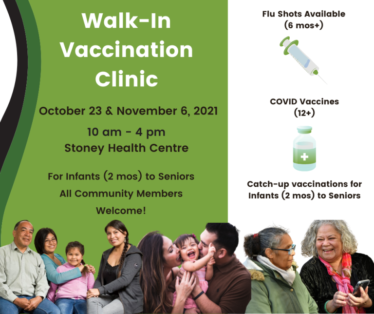 MASS Vaccination Clinic October 2021 at Stoney Health Centre