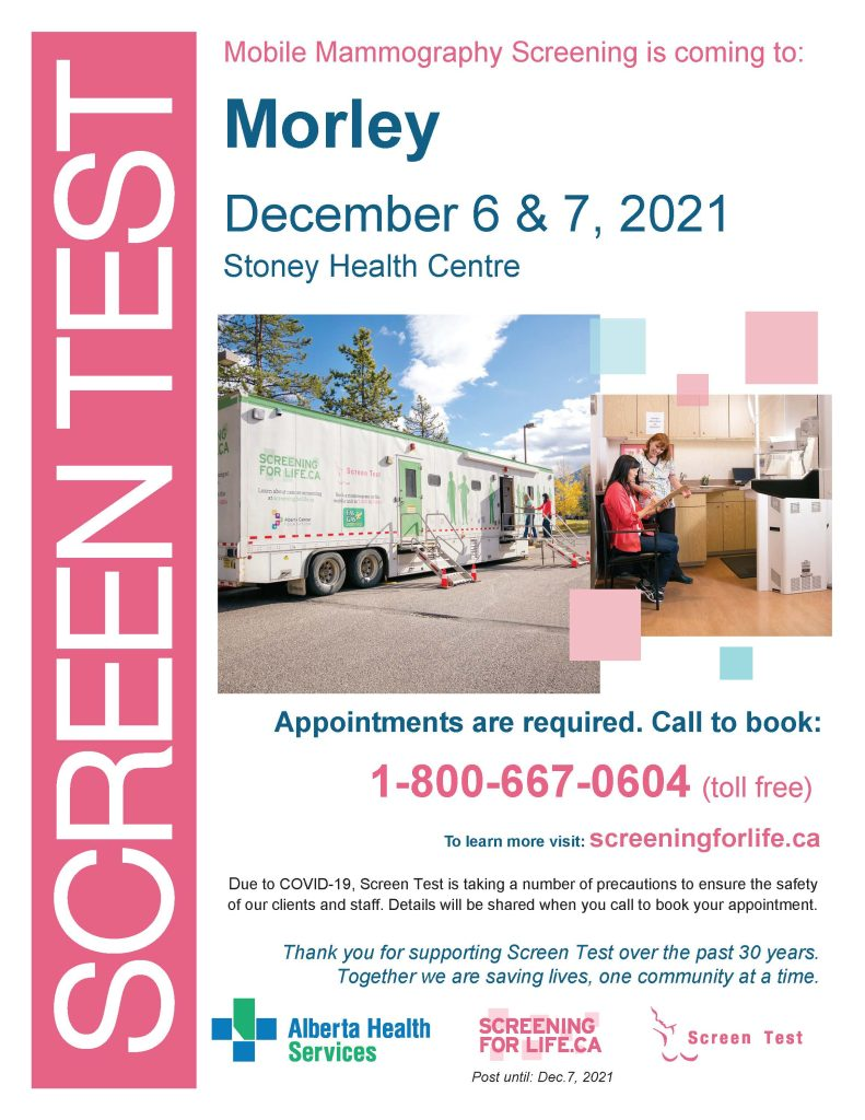 AHS Screen Test Mobile Mammography Clinic
